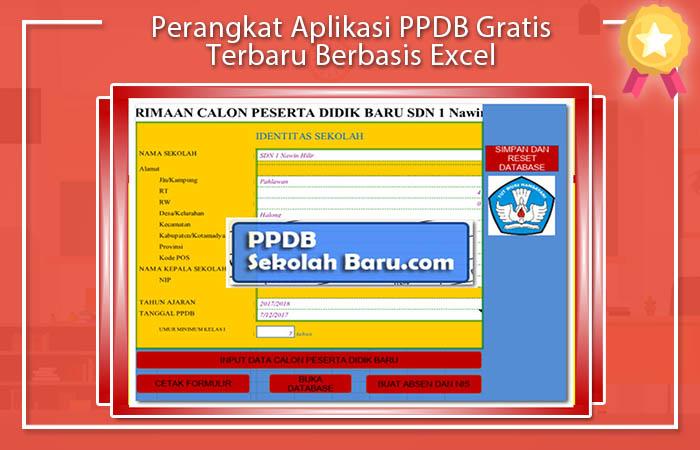 Perangkat Aplikasi PPDB Gratis Terbaru Berbasis Excel