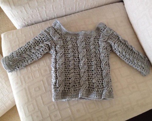 Easy Cable Crochet Toddler Sweater - Tutorial