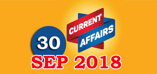 Kerala PSC Daily Malayalam Current Affairs 30 Sep 2018