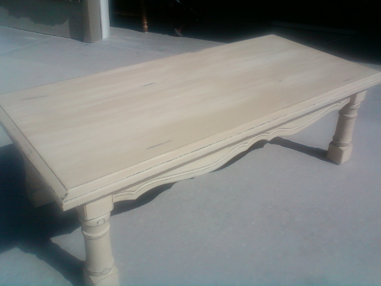 Cozy Cottage Treasures: Off White Coffee Table distressed ...