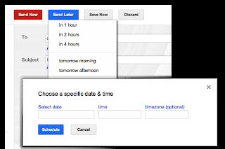 """اضافة لجدولة إرسال رسائل البريد الالكتروني في بريد جوجل """"جي ميل """""""