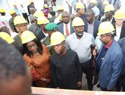 c Photos: VP Yemi Osinbajo, Gov Ambode, Ministers, take inspection tour of Dangote's Lekki Refinery, Petrochemical projects news