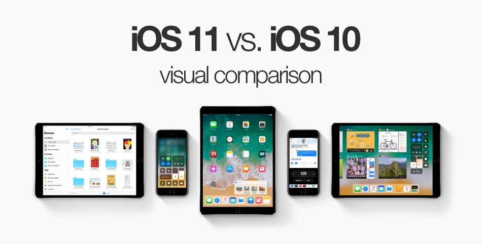 Apple iOS 11 vs. iOS 10 Comparison
