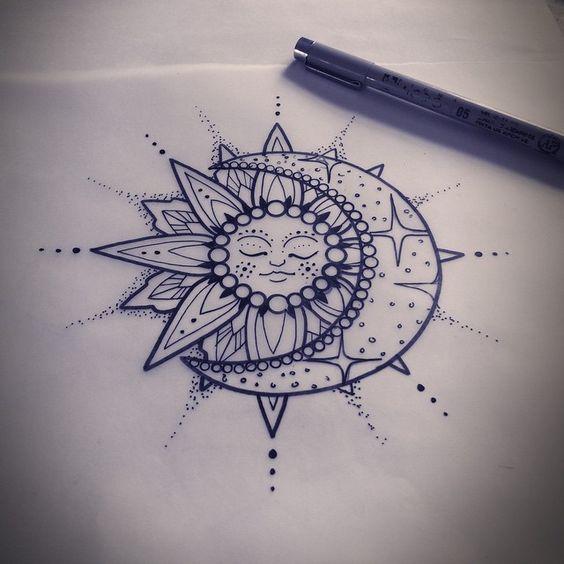 1000 Ideas About Sun Tattoo Meaning On Pinterest: TATTOO, DESENHOS E MUITO MAIS....: LUA