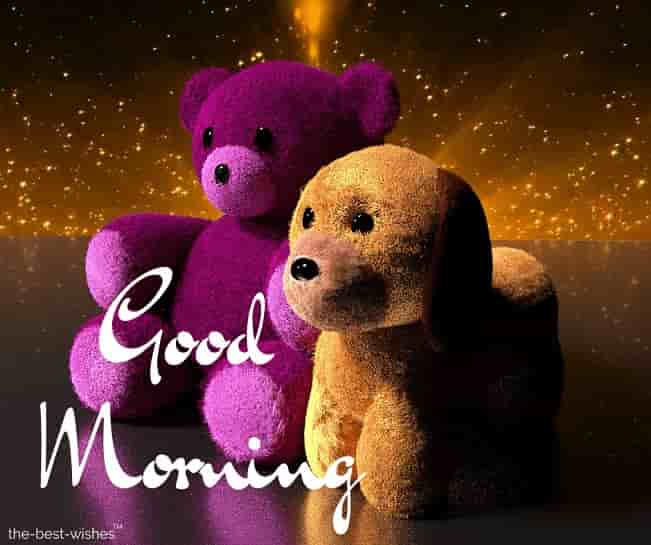 good morning teddy bear pictures