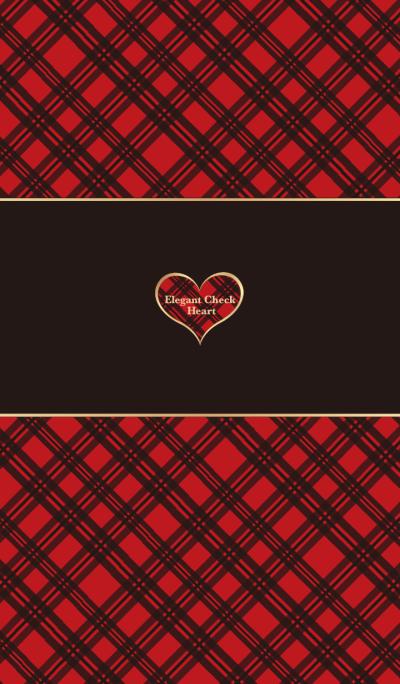 Elegant Check heart Tartan check