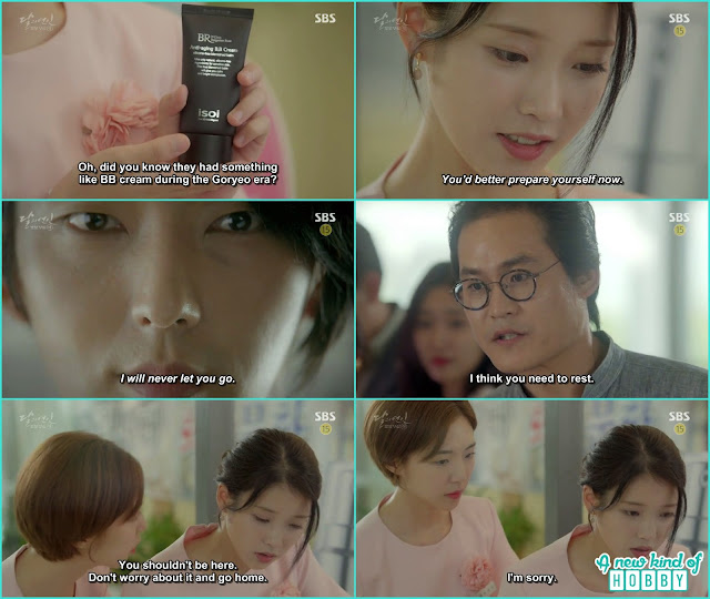 while telling about the makeup he listen wang so voice and she lost her senses her friend ask her to go home and rest - Moon Lovers Scarlet Heart Ryeo - Episode 20 Finale (Eng Sub)