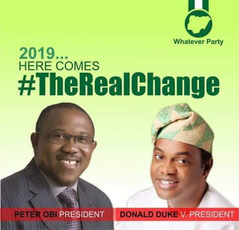 Have you seen this presidential campaign poster of Peter Obi & Donald Duke?