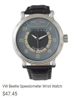 vw speedometer men's watch customized with name