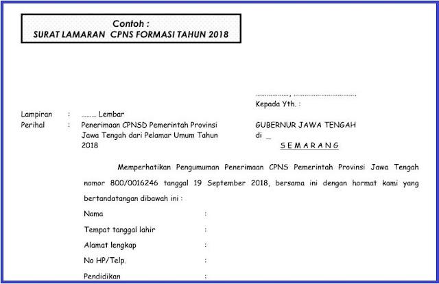 Download Contoh Surat Lamaran Cpns 2018 Komunitas Smk