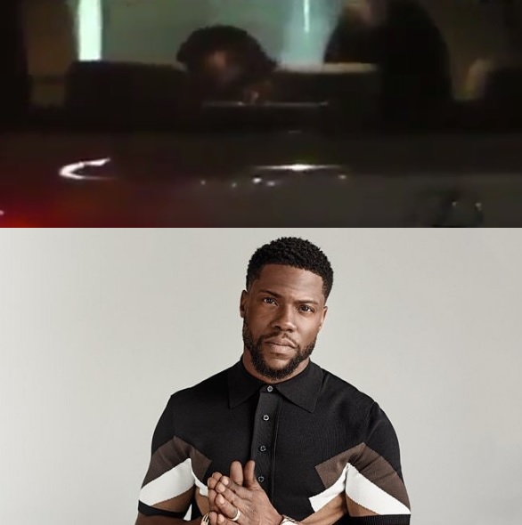 Still Image from video of Kevin Hart cheating his wife with another girl and his reply to such allegation