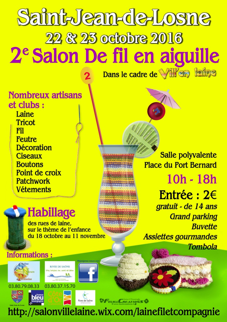 Saint jean de losne tourisme histoire patrimoine bient t le 2e salon quo - Salon fil en aiguille ...