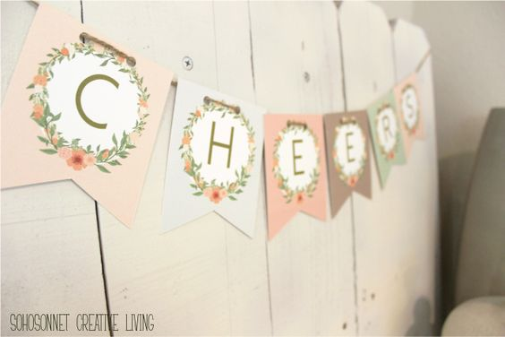 DIY Pretty Alphabet Bunting Free Printables