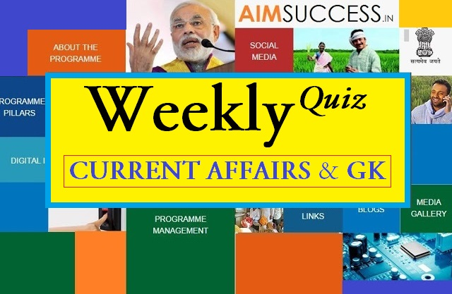 Weekly Current Affairs Quiz (5 March to 11 March) 2018