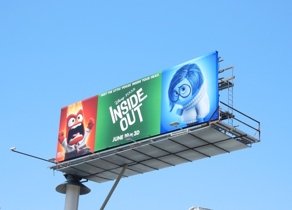 Inside Out Anger and Sadness movie billboard