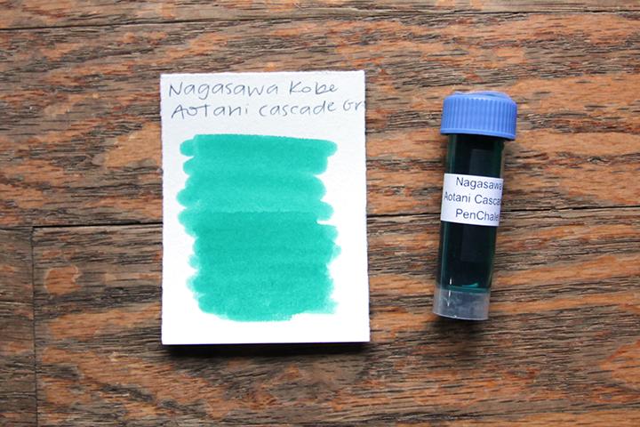 review: nagasawa kobe #47 aotani cascade green (nagasawa penstyle kobe ink物語 #47 青谷カスケードグリーン)
