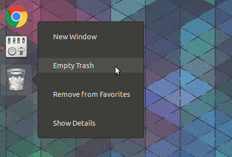 Trash icon Gnome Shell dock