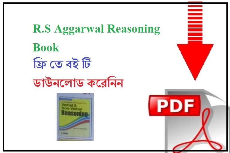 R S Aggarwal Reasoning Book Pdf Free Download In English