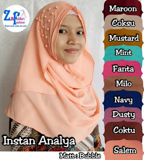 pashmina instan analya bahan bubble