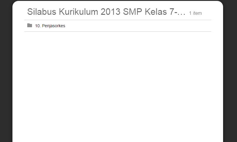 Silabus Kurikulum 2013 SMP Kelas 7-8-9 Penjasorkes Lengkap RevisiTerbaru