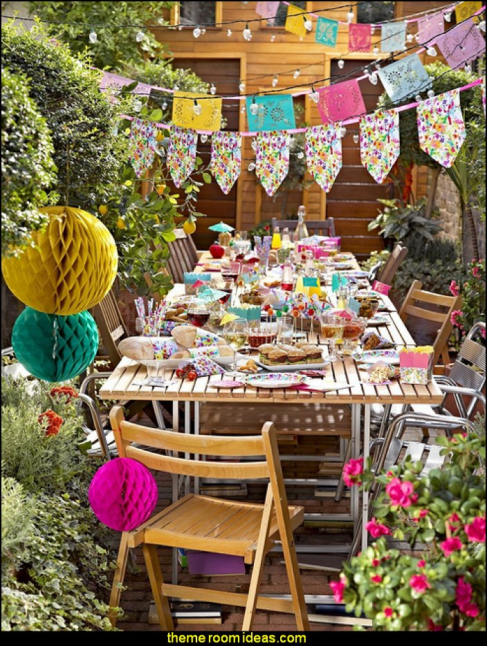 flower garden tea party Talking Tables Floral Fiesta Large Colorful Paper Plates for a Tea Party & Decorating theme bedrooms - Maries Manor: February 2018