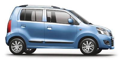 Maruti Suzuki Wagon R blue side Image