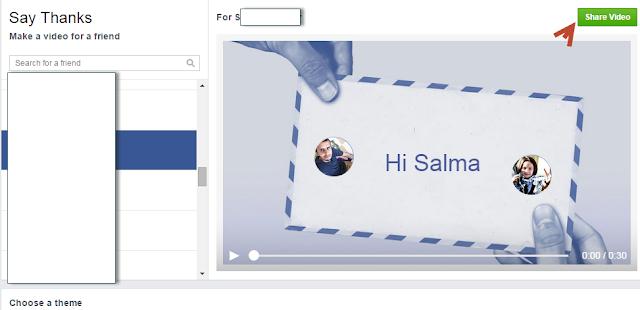"""طريقة لتقديم الشكر """"Say Thanks"""" لصديقك فى الفيس بوك"""
