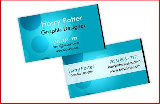 business card template illustrator