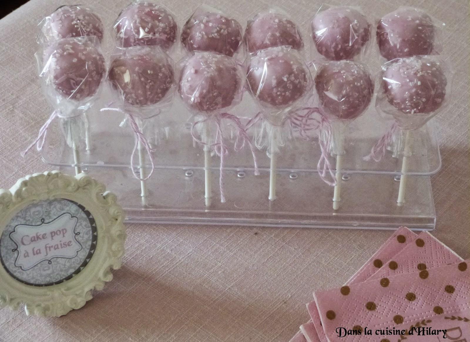 Cake-pop à la fraise