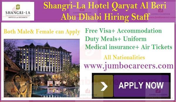 Shangri-La 5 Star Hotel Qaryat Al Beri Abu Dhabi Jobs and Careers 2019