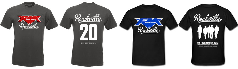 FM - Rockville March 2013 tour T-shirts