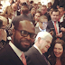 Stephanie Okereke's shares photo of her husband at Donald Trump's inaguration