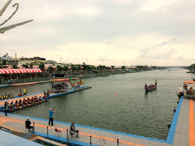 鹿港慶端陽龍舟賽場
