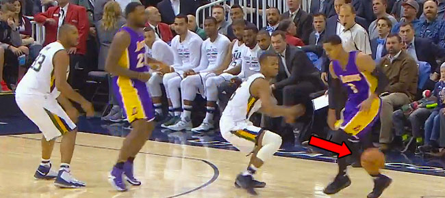 Jordan Clarkson Shows NASTY Handles on Layup (VIDEO)