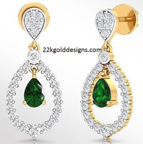 PNG Pear Diamond Earrings with Price