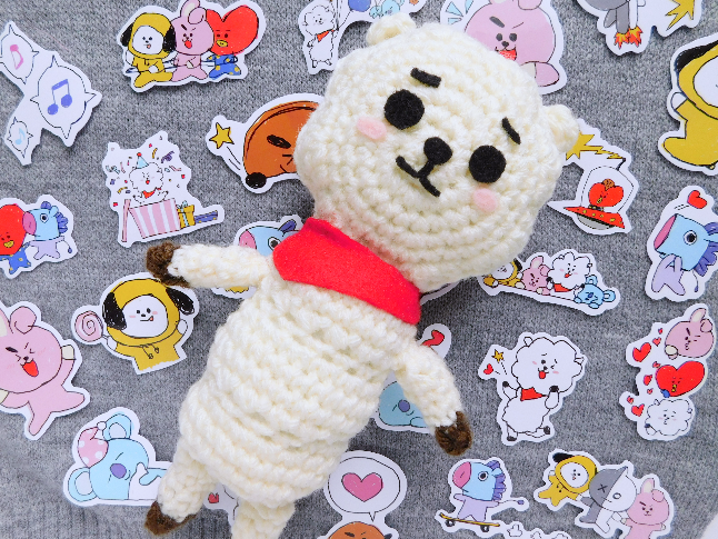BT21 RJ Plush Crochet Pattern