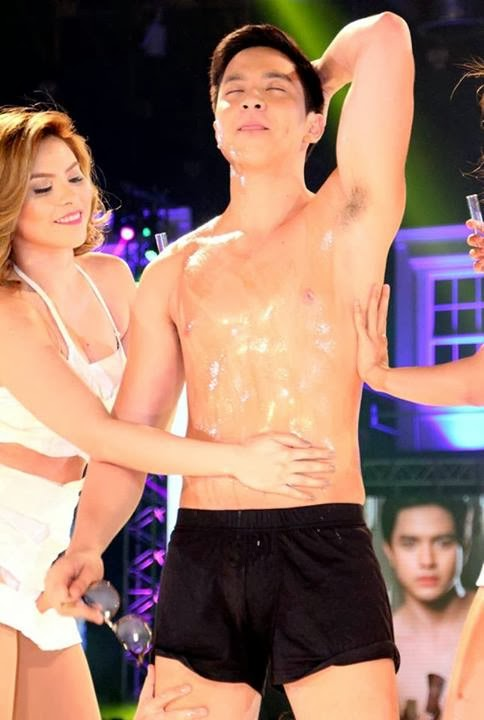 Alden Richards Shirtless at the Cosmo Bachelor Bash