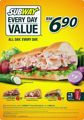 No more sub of the day, replaced by Subway Everyday Value