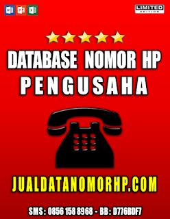 Jual Database Nomor Handphone Perusahaan Kaya