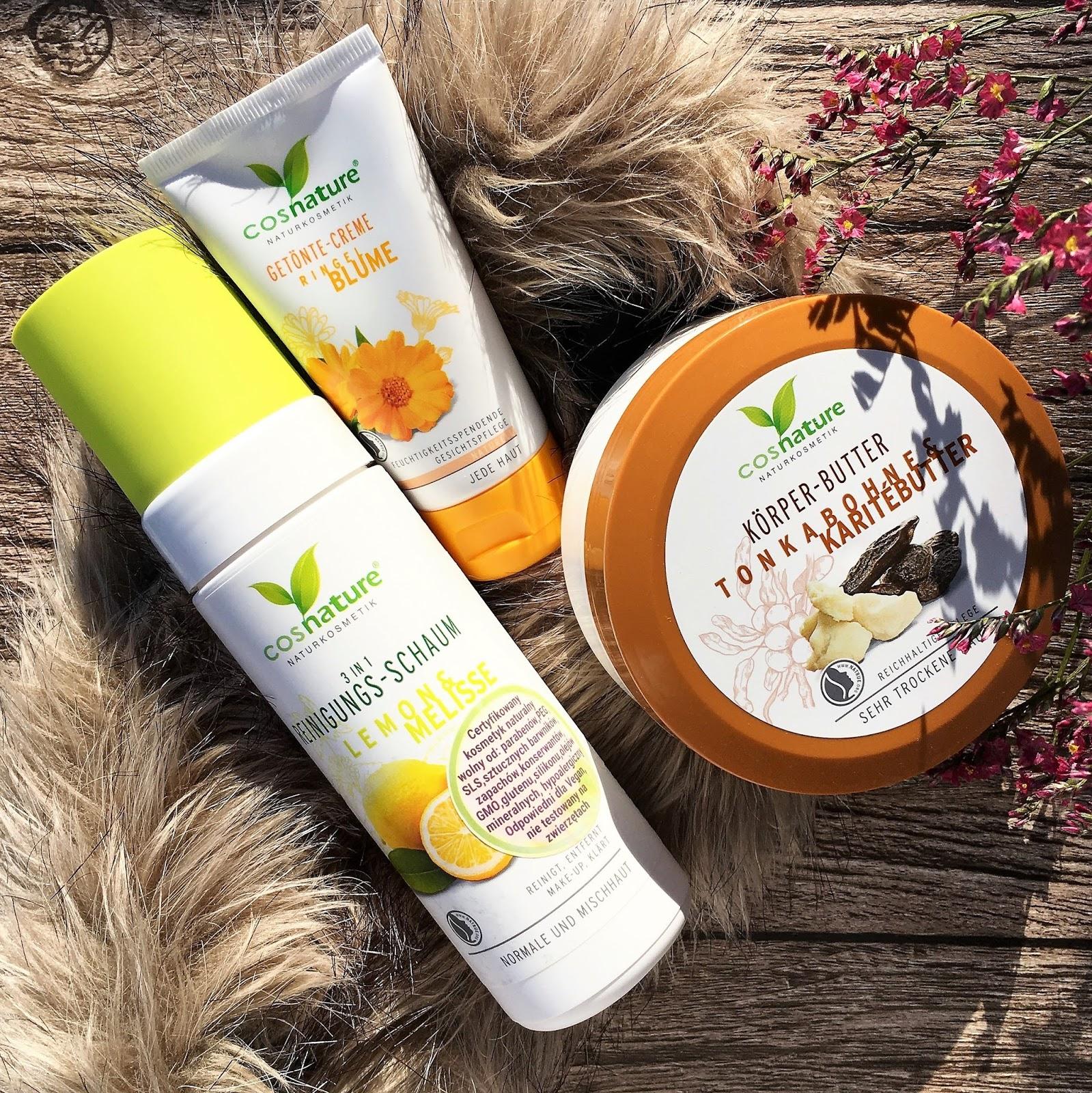 3 naturalne kosmetyki z Cosnature: masło do ciała, pianka i krem do twarzy