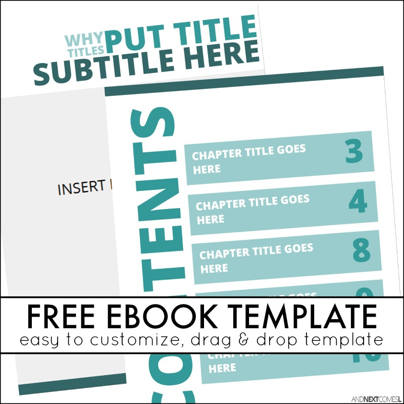 Simple eBook Template | And Next Comes L