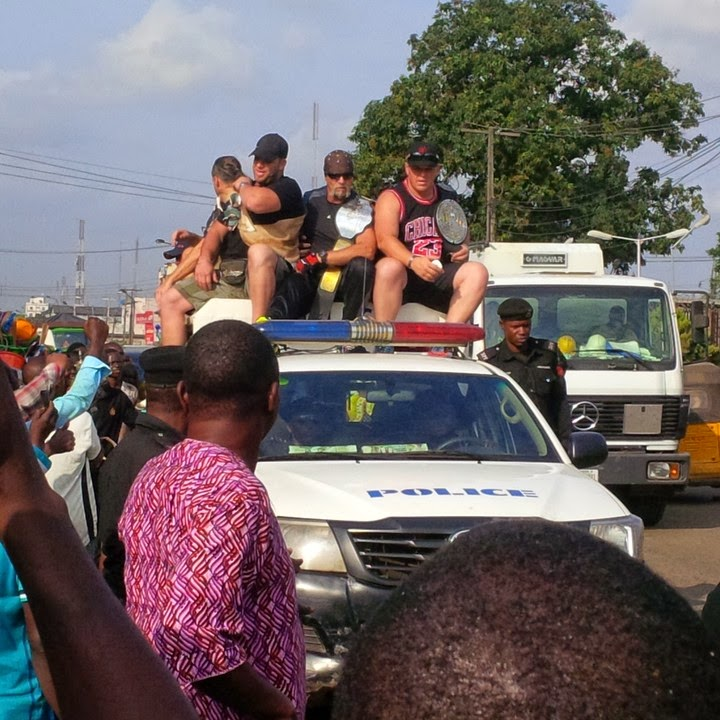 2 Popular Wrestler Hulk Hogan In Ladipo Mushin Lagos (See Photo)