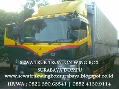 SEWA CARTER TRUK TRONTON WING BOX SURABAYA DOMPU BIMA SAPE PLAMPANG TALIWANG SUMBAWA BESAR