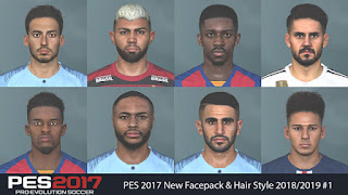 PES 2017 New Facepack & Hair Style 2018/2019 #1