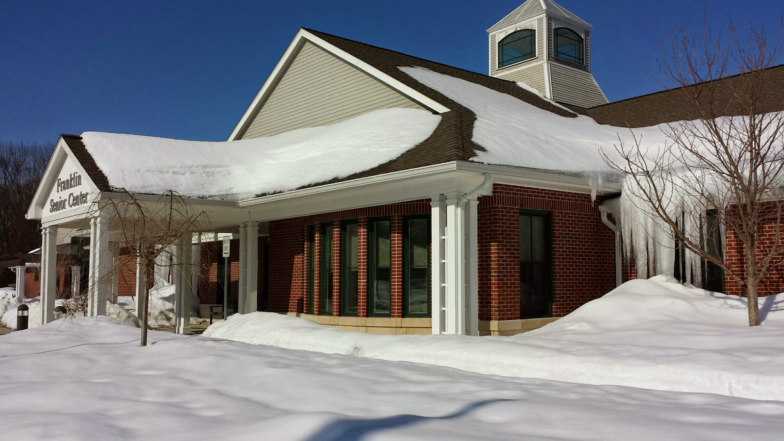 Franklin Senior Center - how much snow will have melted by April 1?