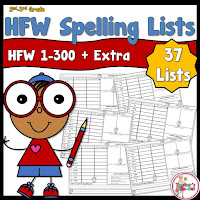 HFW Spelling List for words 1 to 300