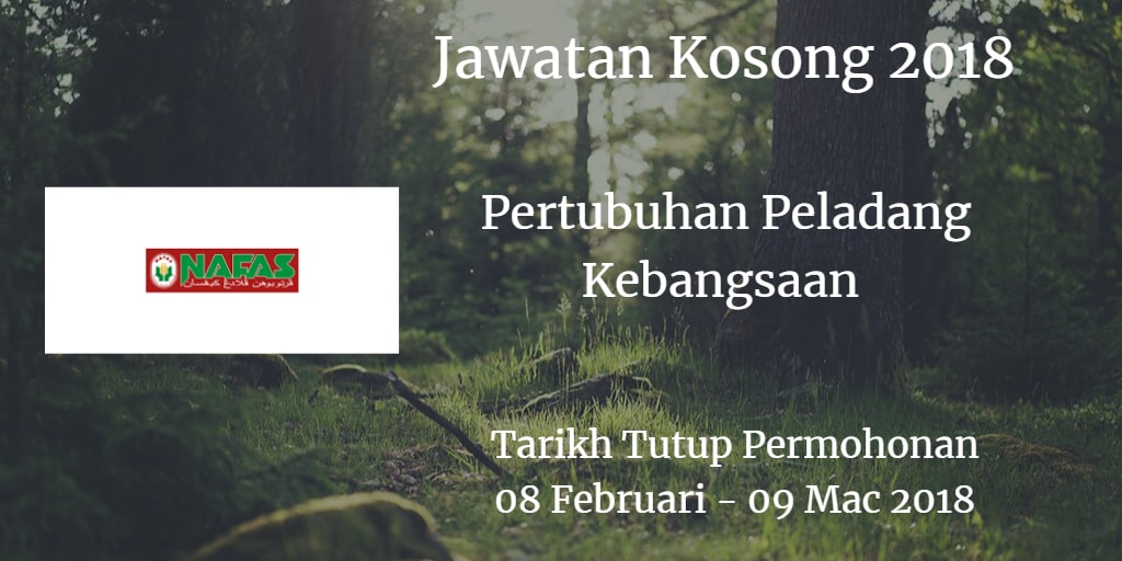 Jawatan Kosong Nafas 08 Februari - 09  Mac 2018