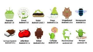 Dokumentasi OS Android Dari Versi 1 Sampai Sekarang