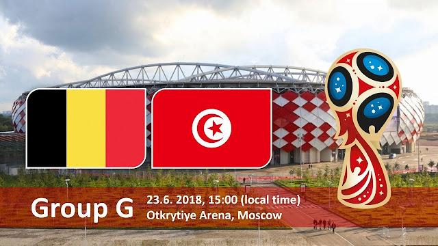 اهداف مباراة تونس وبلجيكا Tunisia vs Belgium في مونديال 2018 في روسيا