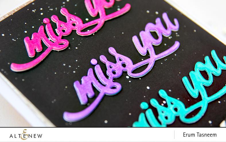Altenew Miss You Word Die | Erum Tasneem | @pr0digy0